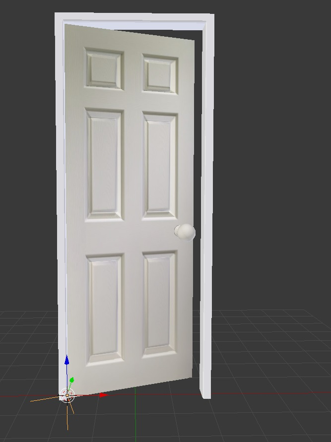 Beginner Tutorial: How To Create and Setup a Door for Animation in Blender