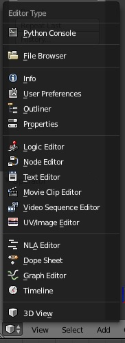 Blender Interface Editors