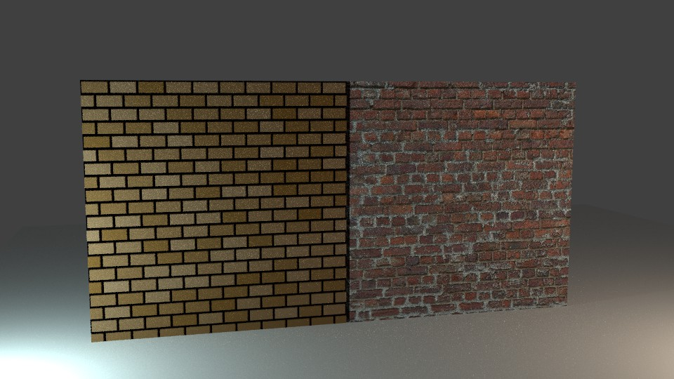 Procedural (left) and Image (right) textures