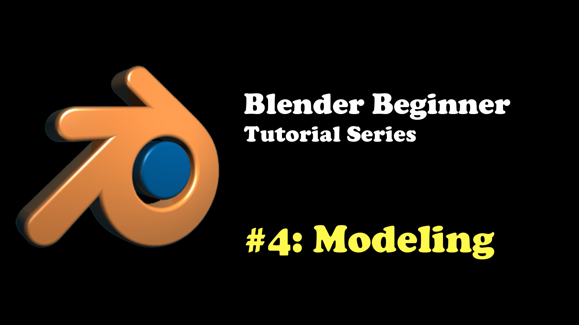 Introduction to Modeling in Blender