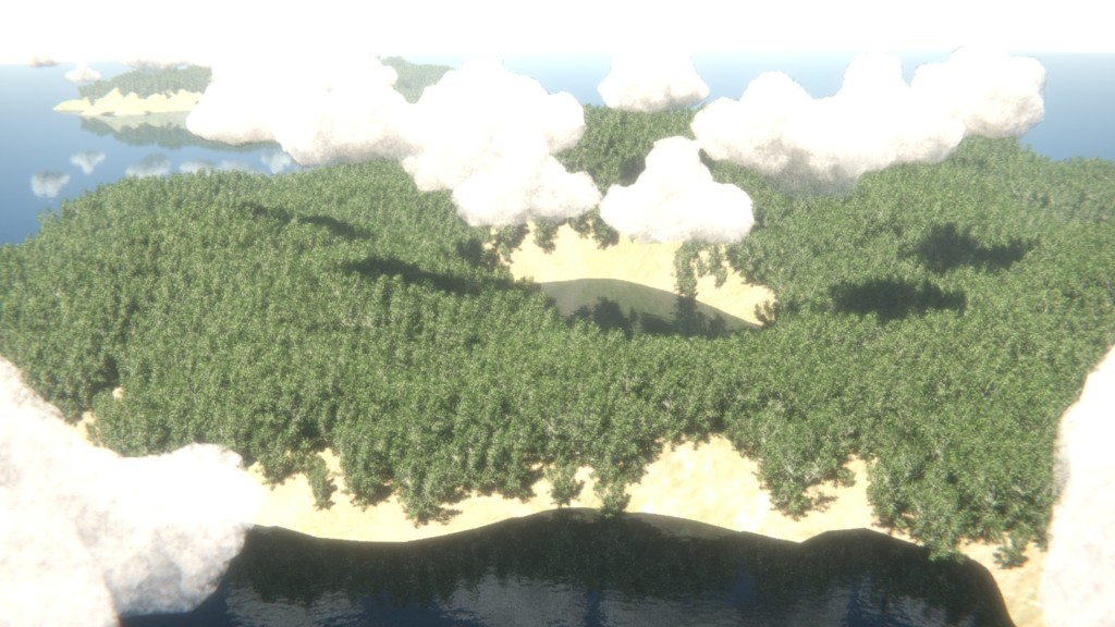 My dodgy attempt at creating an aerial island forest