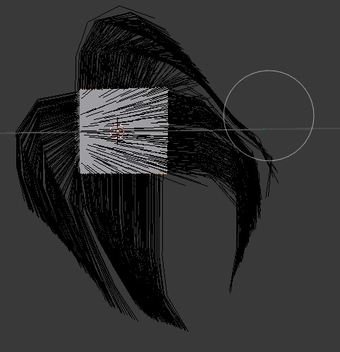 Stroke along the edges of the hair to comb