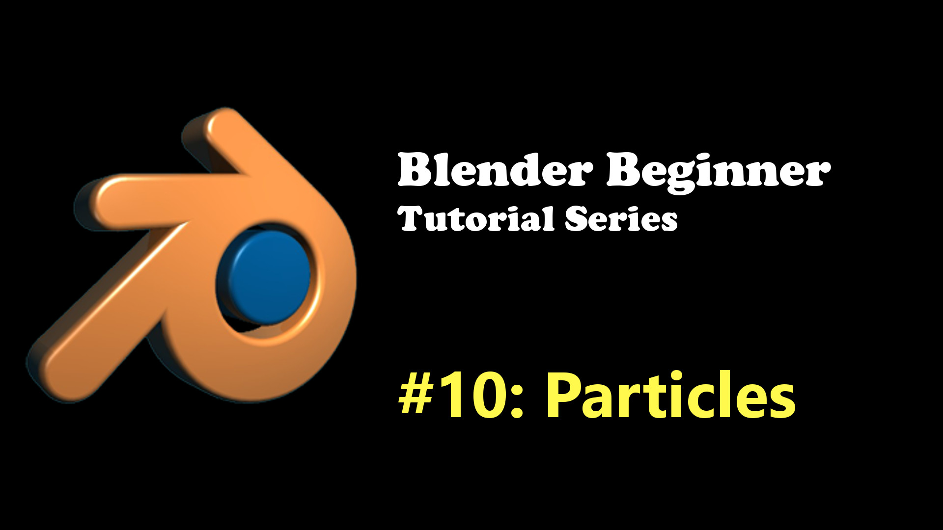 Beginner's Introduction to Particles in Blender