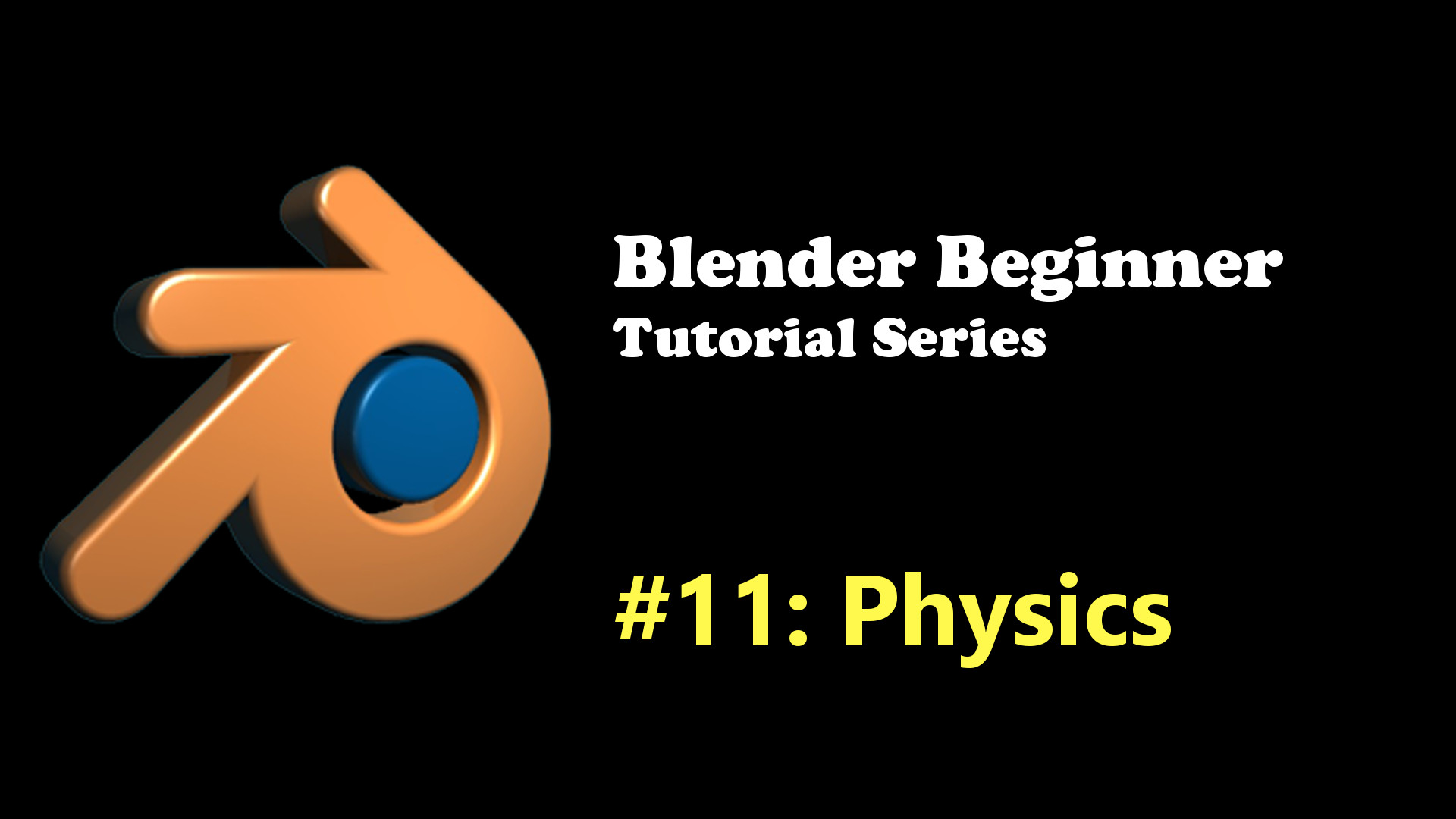 Blender Physics Tutorial for Beginners