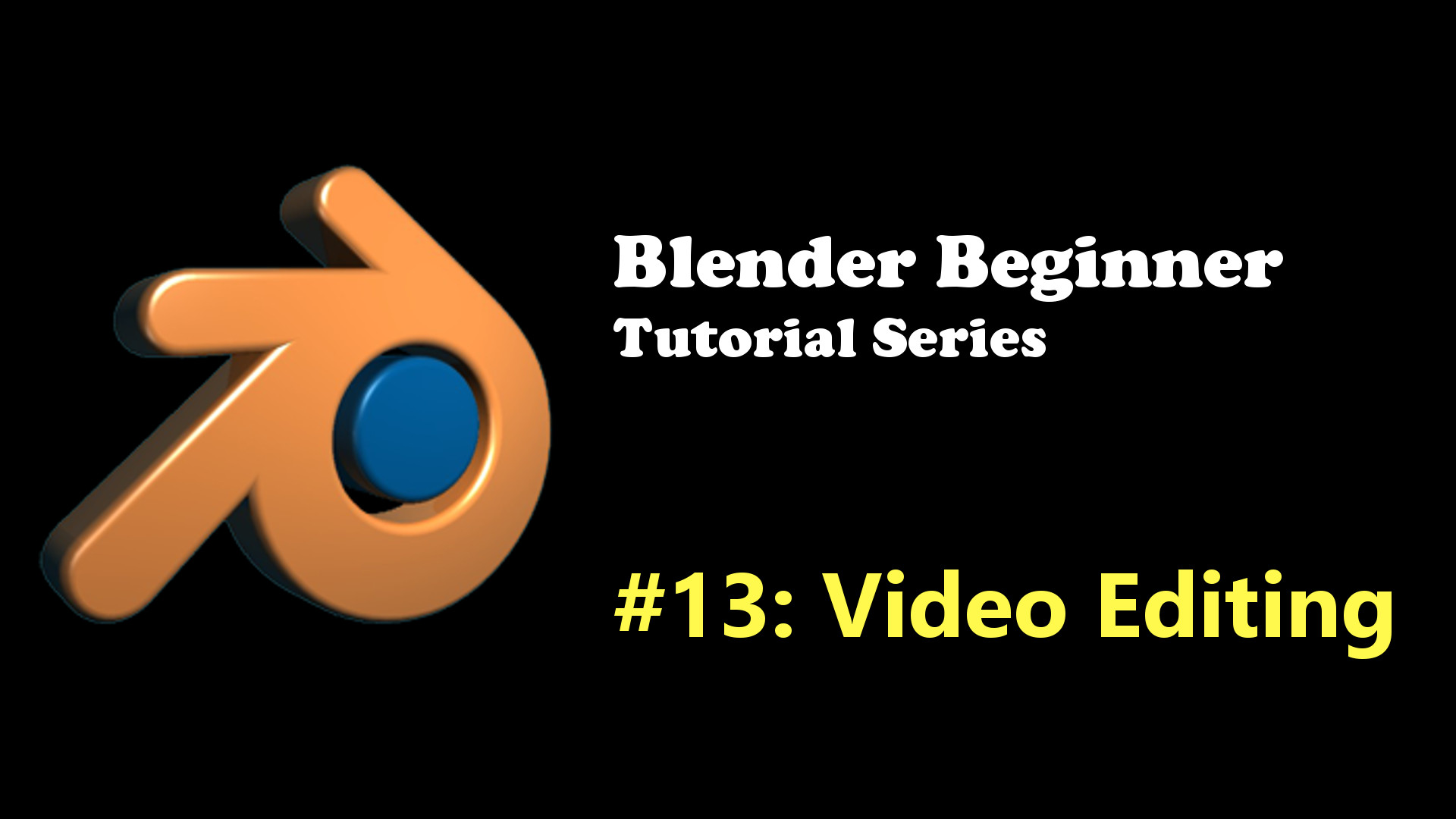 Using Blender as a Video Editor