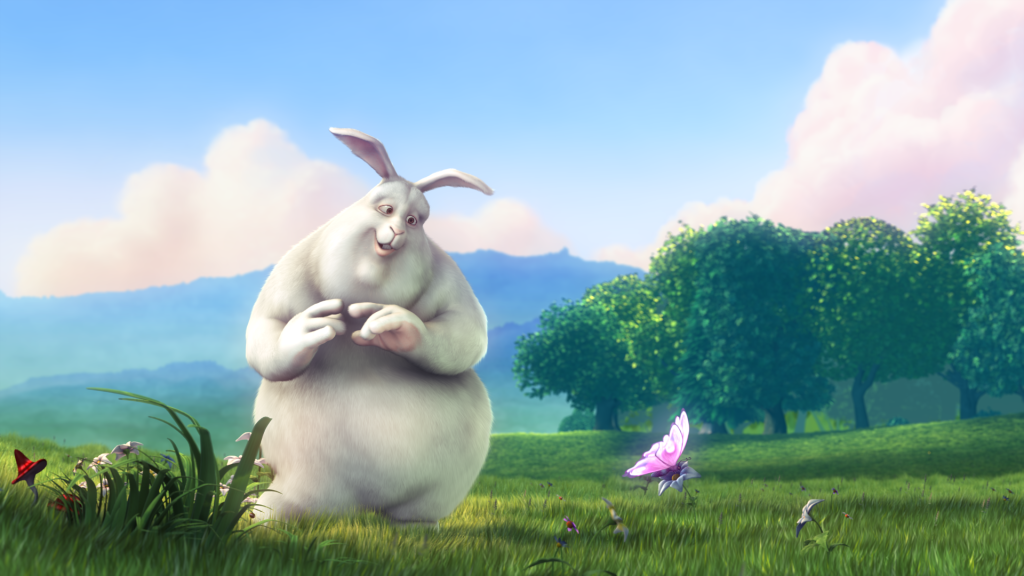 A Scene from Big Buck Bunny. A BlenderFoundation Open Source Short Film.